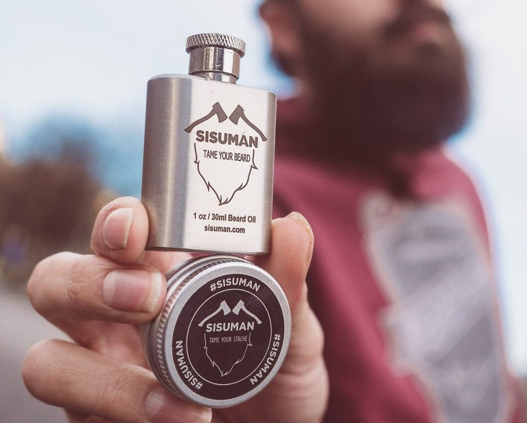 Beard oil and moustache wax products